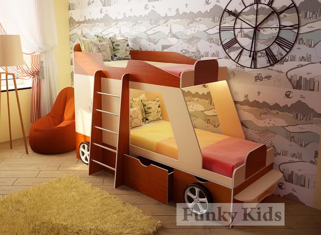 Кровать двухъярусная Фанки Кидз Джип