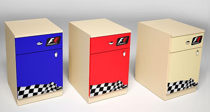 Тумба 2 ящика Фанки Беби Формула-1, арт. ФБ-Т5