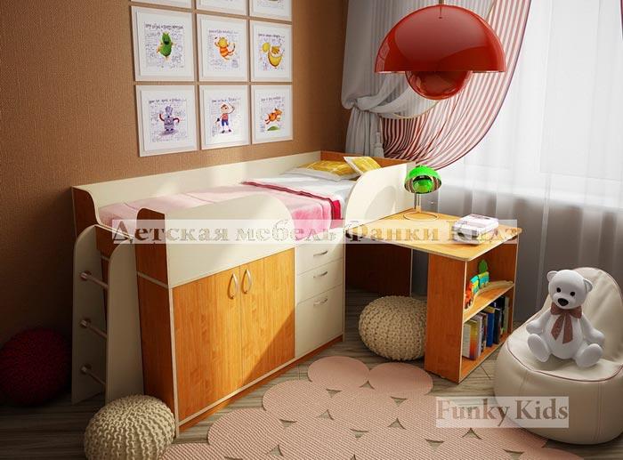 Кровать-чердак Фанки Кидз 10