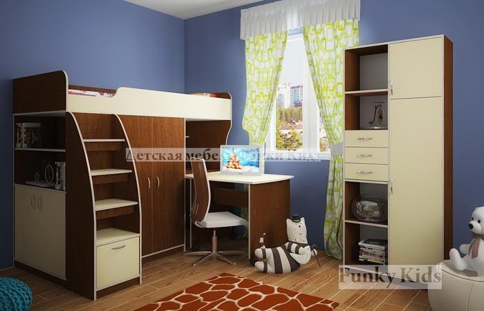 Кровать-чердак Фанки Кидз 18