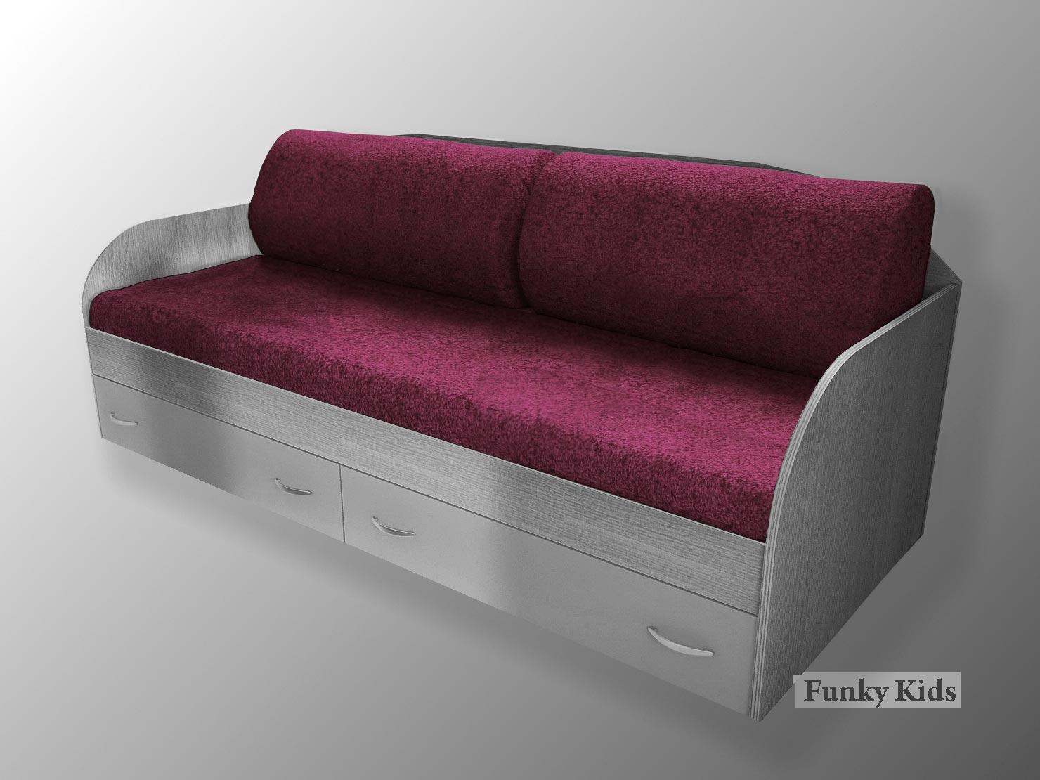 Комплект 2 диванные спинные подушки и покрывало Фанки Крем