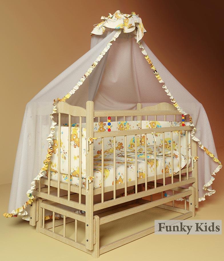 Кровать детская Фанки Литл-3 (маятник/колеса)