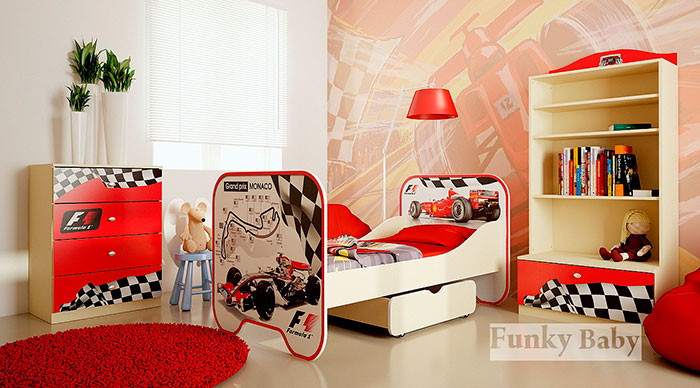 Красная детская Фанки Бэби