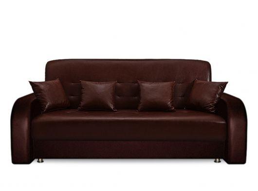 Диван Престиж 160х90 экокожа коричневая