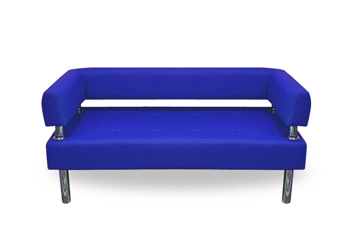 Диван Business 1200х800 экокожа (синий) без боковин