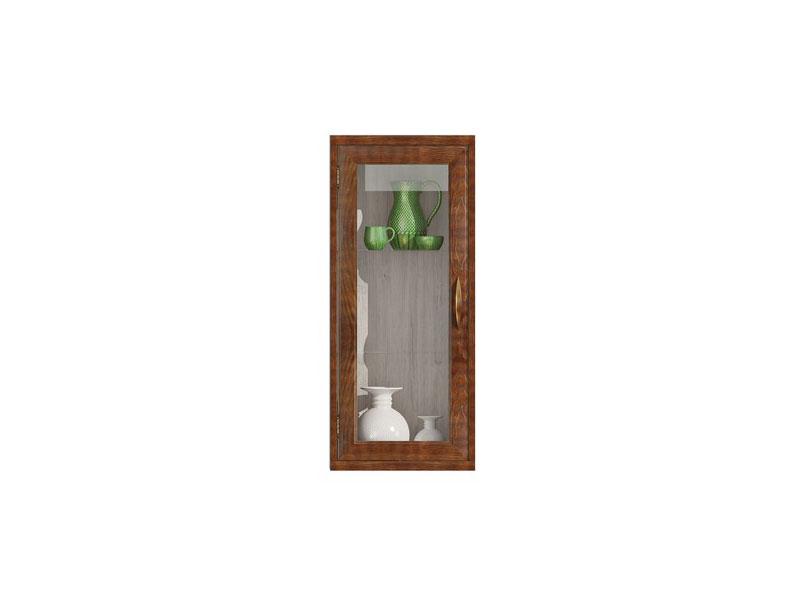 Полка-витрина вертикальная Фран Диего, СВ-364В (ясень)
