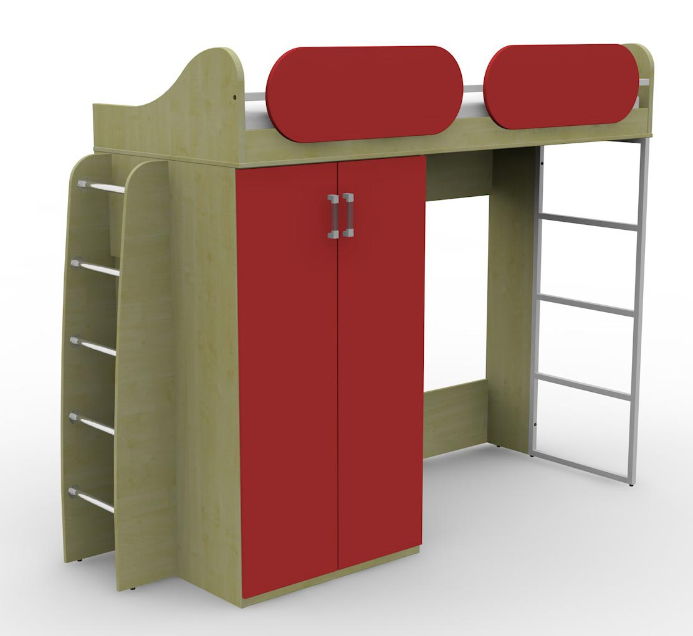 Кровать Гармония Teen`s Home чердак с лестницей 17.104.00+17.164.00