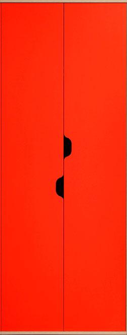 Шкаф для одежды и белья Глазов Автобус 4 (красный)