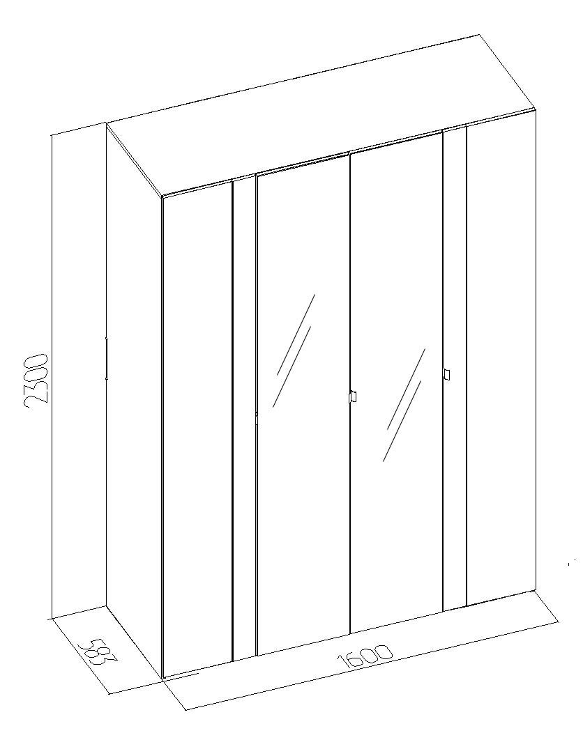 Шкаф для одежды и белья Глазов Berlin