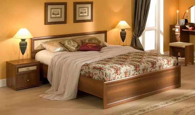 Кровать 3 Глазов Милана (120) орех