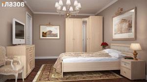 Спальня Глазов Милана, отбеленный дуб