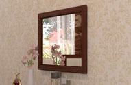 Зеркало навесное 1 Montpellier Глазов, орех шоколадный
