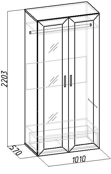 Шкаф для одежды и белья 1 Глазов Секрет
