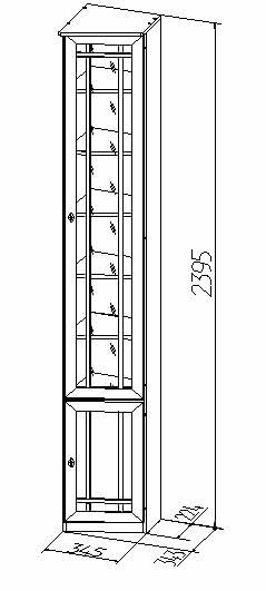 Шкаф для книг (скошенный правый) Глазов Sherlock 35 (дуб сонома)