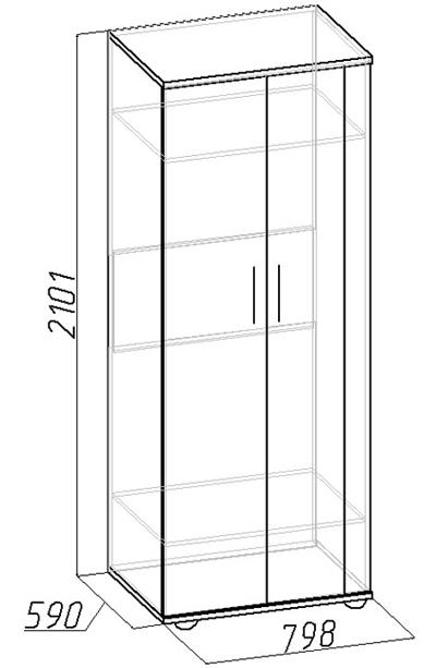 Шкаф для одежды Berlin 9  венге
