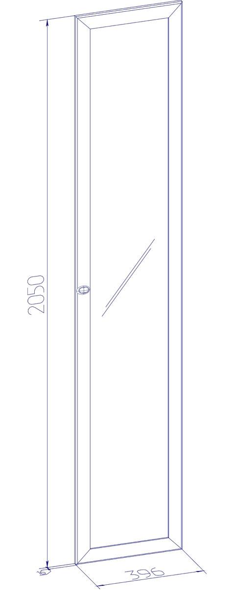 Фасад Глазов Бриз зеркало (для шкафов 10, 12)