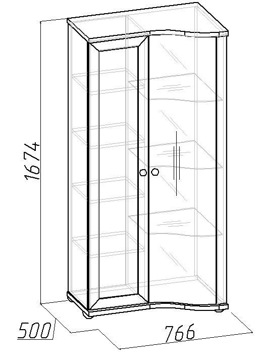 Шкаф Глазов Марракеш МЦН-3 (фасад стандарт)