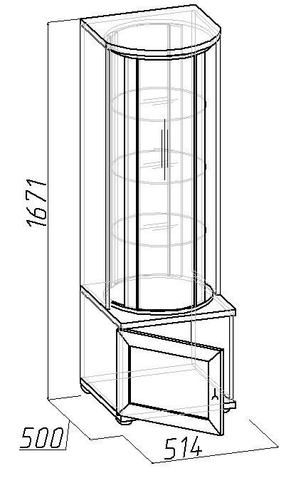 Шкаф Глазов Марракеш для посуды (фасад стандарт)