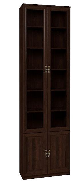 Шкаф Глазов Montpellier для книг 11 (орех шоколадный)