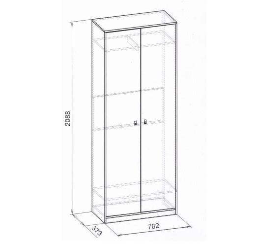 Шкаф для одежды Глазов Комфорт (дуб сонома), мод. 6