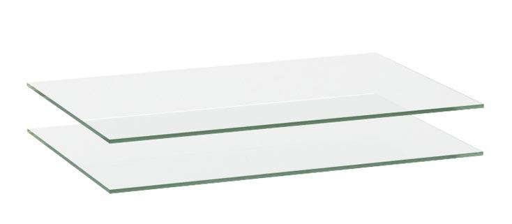 Комплект полок стекло Луара, арт.: ЛУ-019.00