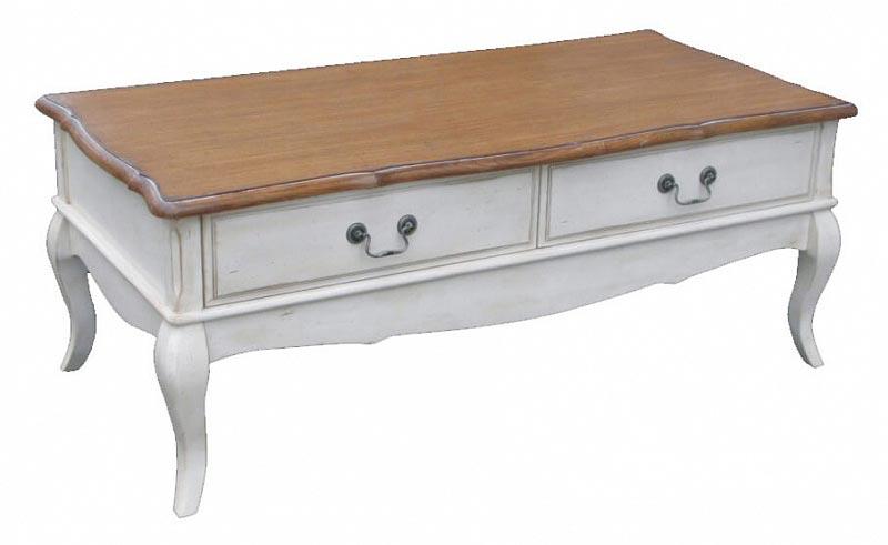 Столик чайный с 2 ящиками Belveder Blanc bonbon, ST9343