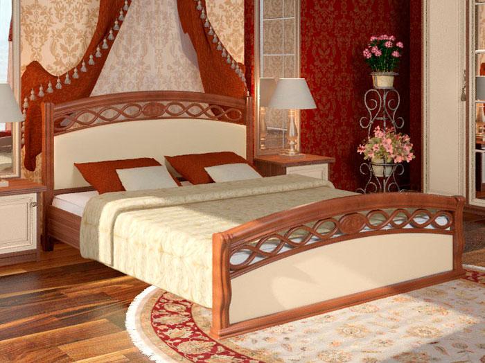 Кровать с элементами из МДФ