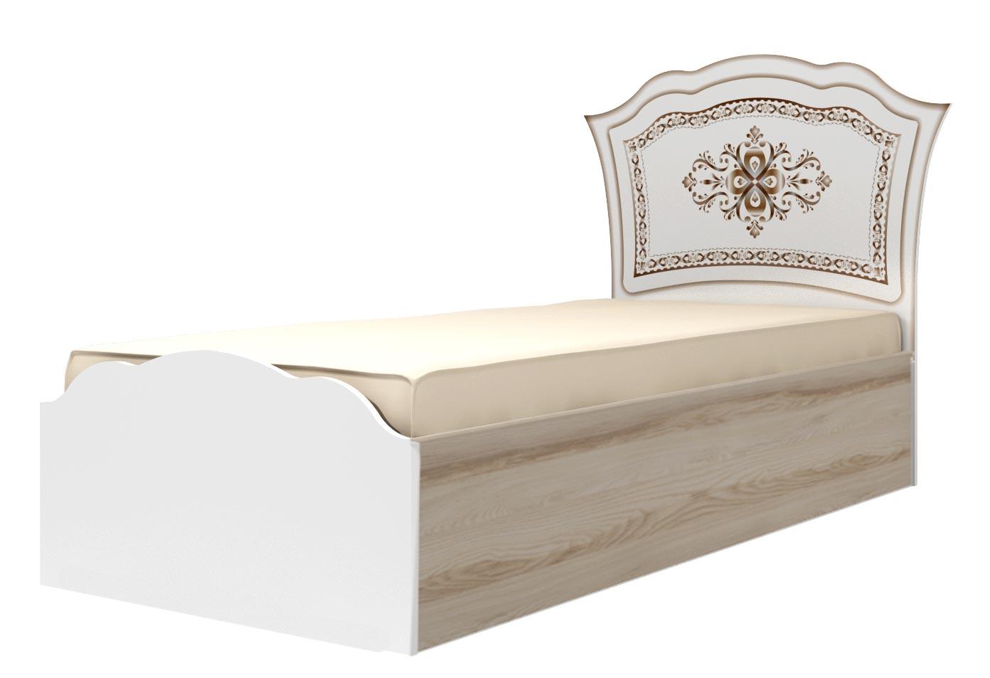 Кровать (90) Ижмебель Династия, мод. 23