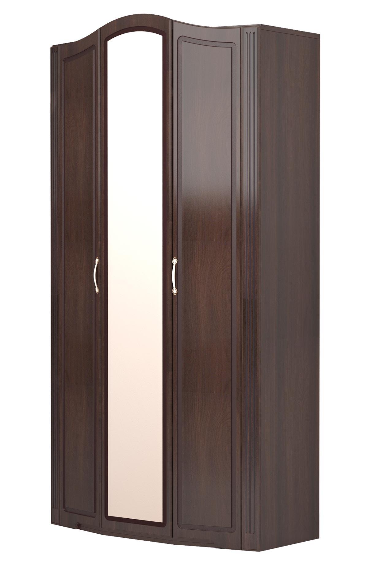 Шкаф 3х дверный с зеркалами Ижмебель Виктория (дуб тортона глянец), арт.09