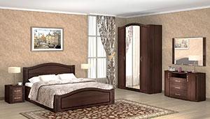 Спальня Ижмебель Виктория дуб тортона глянец