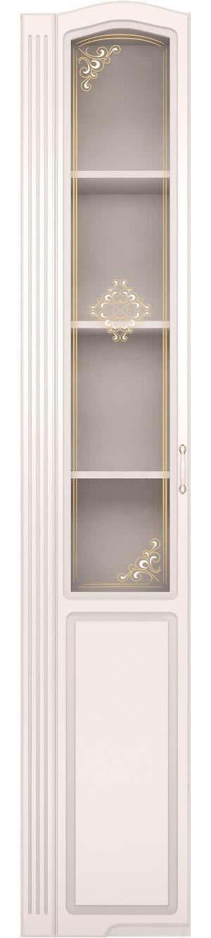 Шкаф-пенал левый со стеклом Ижмебель Виктория, мод.17