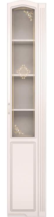Шкаф-пенал правый со стеклом Ижмебель Виктория, мод.32