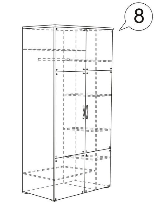 Шкаф для одежды Ижмебель Бьянка АРТ 8