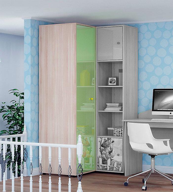 Шкаф угловой для одежды Ижмебель Браво, мод.15