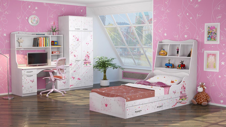 Набор для детской комнаты Ижмебель Принцесса 1