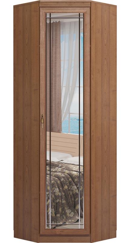 Шкаф Ижмебель Лондон угловой с зеркалом, мод 27