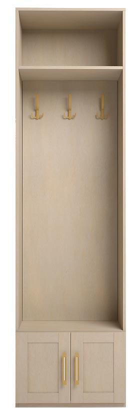 Шкаф Ижмебель Скандинавия Люкс комбинированный с вешалкой, мод.27