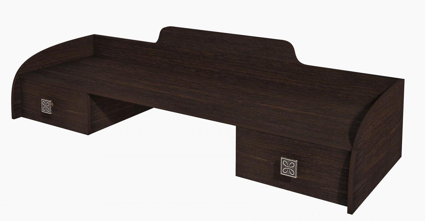 Полка к столу туалетнному Интеди Соната венге, ИД 01.203а