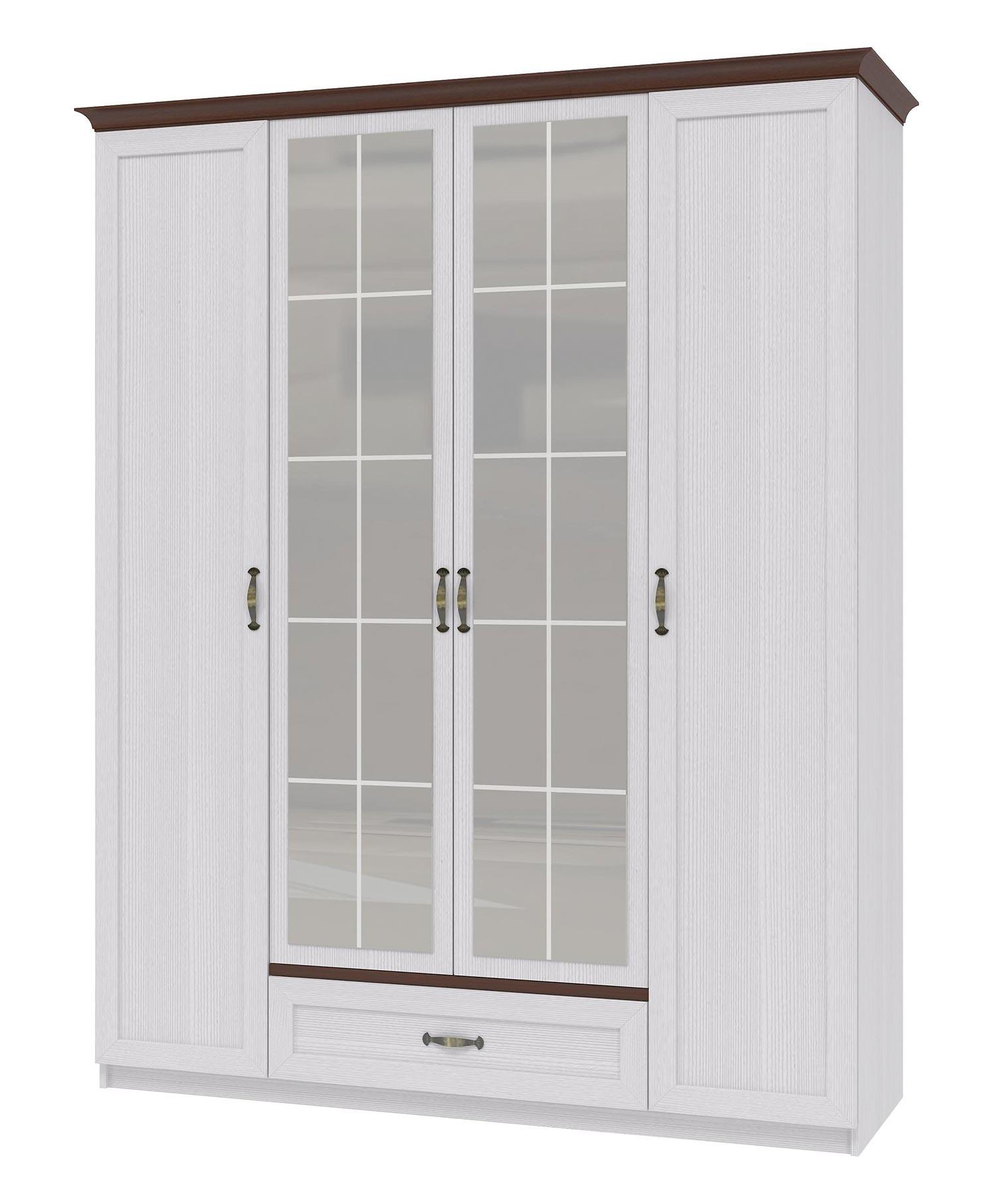 Шкаф 4х дверный для одежды Интеди Вентура, ИД.01.70