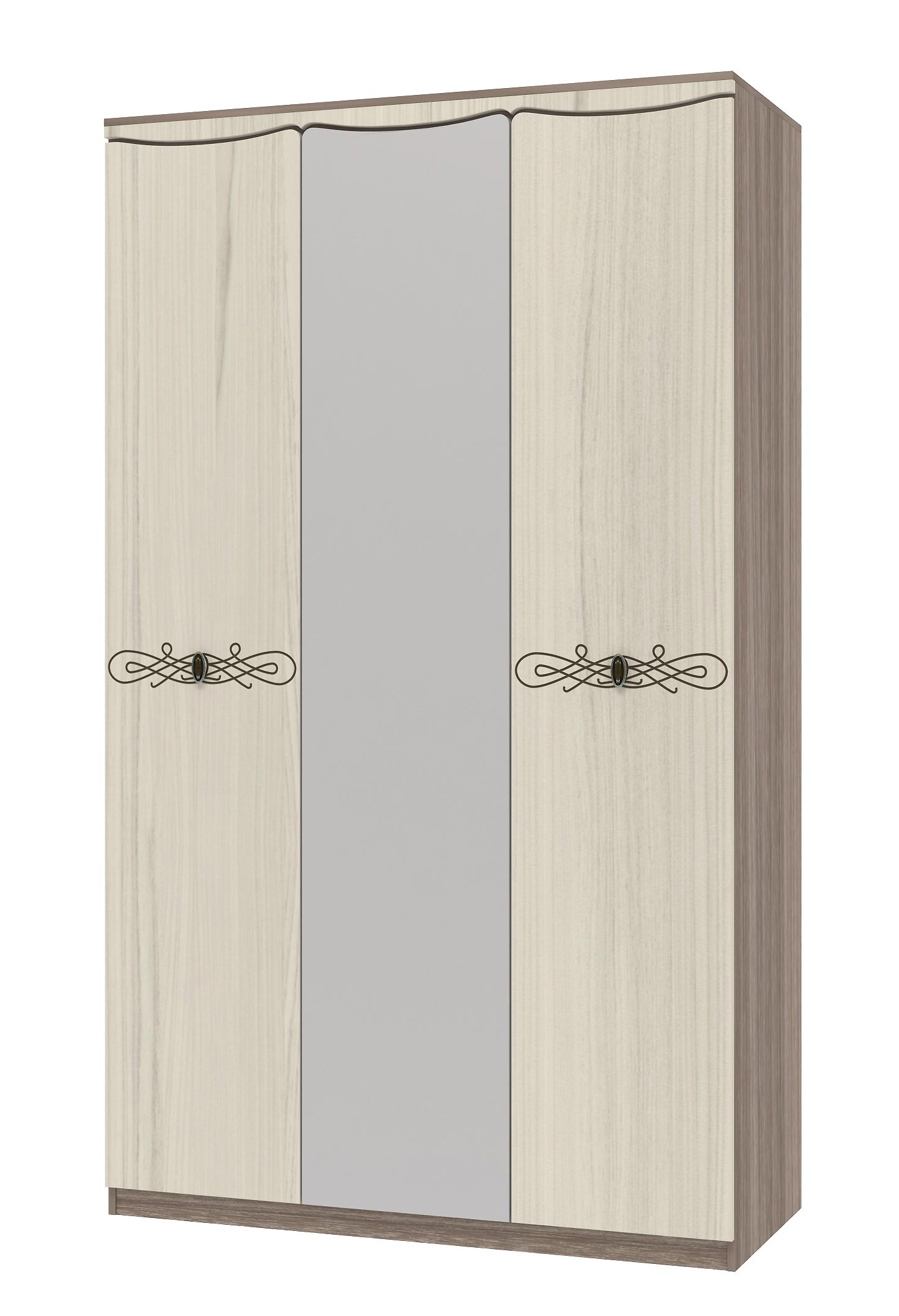 Шкаф 3х дверный для платья и белья Интеди Жасмин, ИД 01.383