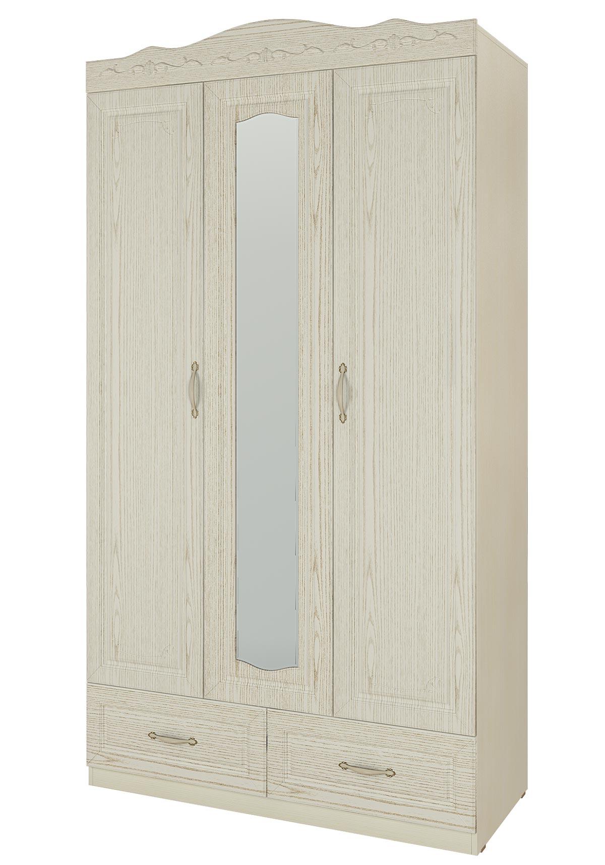 Шкаф 3 двери, 2 ящика Кентавр 2000 Герда, арт.11