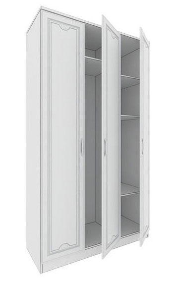 Шкаф 3х дверный Кентавр 2000 Мальвина Люкс, №01