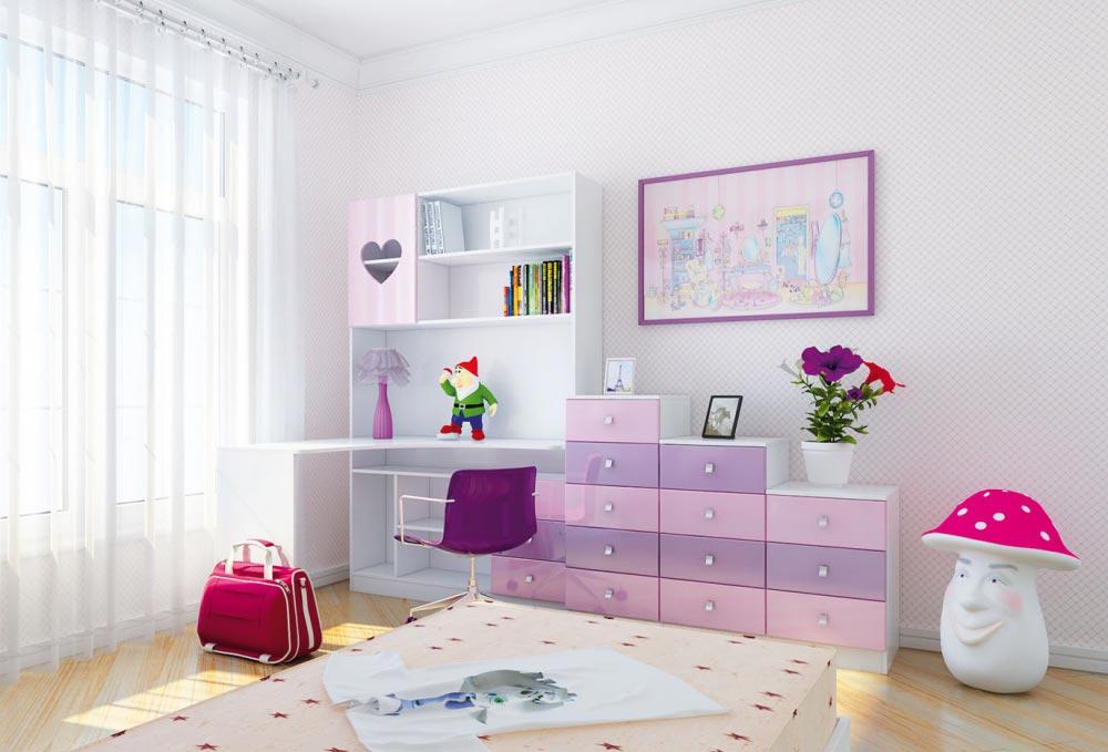 белый/розовый глянец