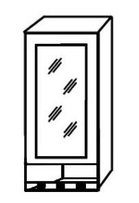 Шкаф-витрина с нишей АРТ: В-55В