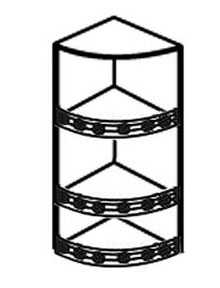 Полка торцевая с балюстрадам АРТ: В-63
