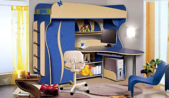 Детская кровать-чердак Альфа-3 КМК