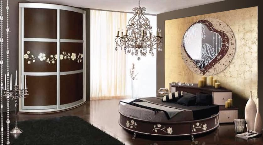 Мебель для спальни с круглой кроватью КМК Магия