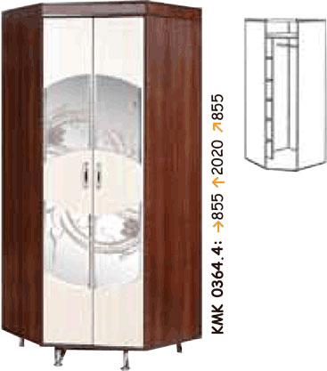 Угловой шкаф для одежды КМК Орфей-11, 0364.4