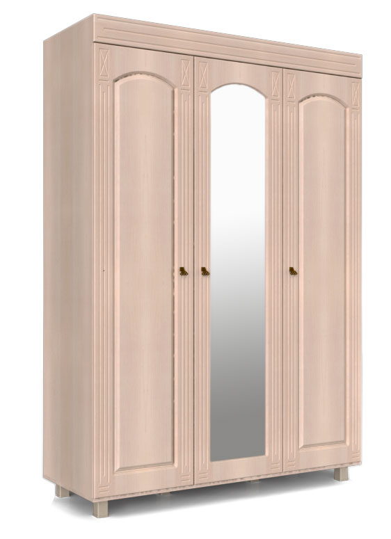 Шкаф Компасс Элизабет 3х створчатый с зеркалом, ЭМ-18