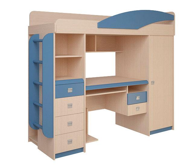 Набор мебели Корвет ЖК 4.1.1Л (синий)